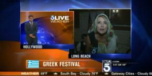 Greeks Entertain Morning Viewers on KTLA 5